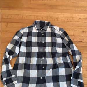 Jcrew black and white lightweight flannel